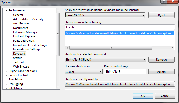 Visual Studio Tip: Locate Current File in Solution Explorer on