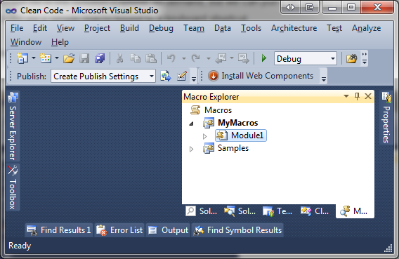 Visual Studio Macro Explorer