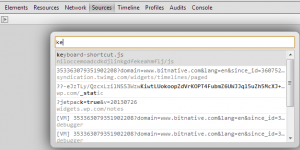 Chrome Intellisense