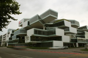 Herzog & deMeuron _ Actelion building by Thomas Mezaros at http://www.flickr.com/photos/30827420@N04/6041632656/