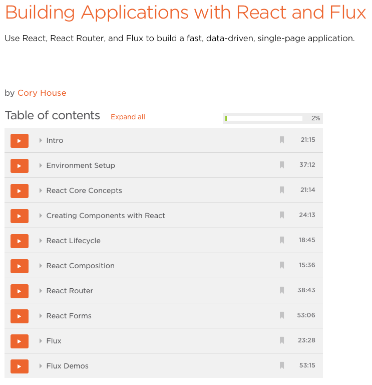 React and Flux Applications